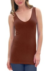 - Cherry Cola RELAXED Reversible Neckline Tank