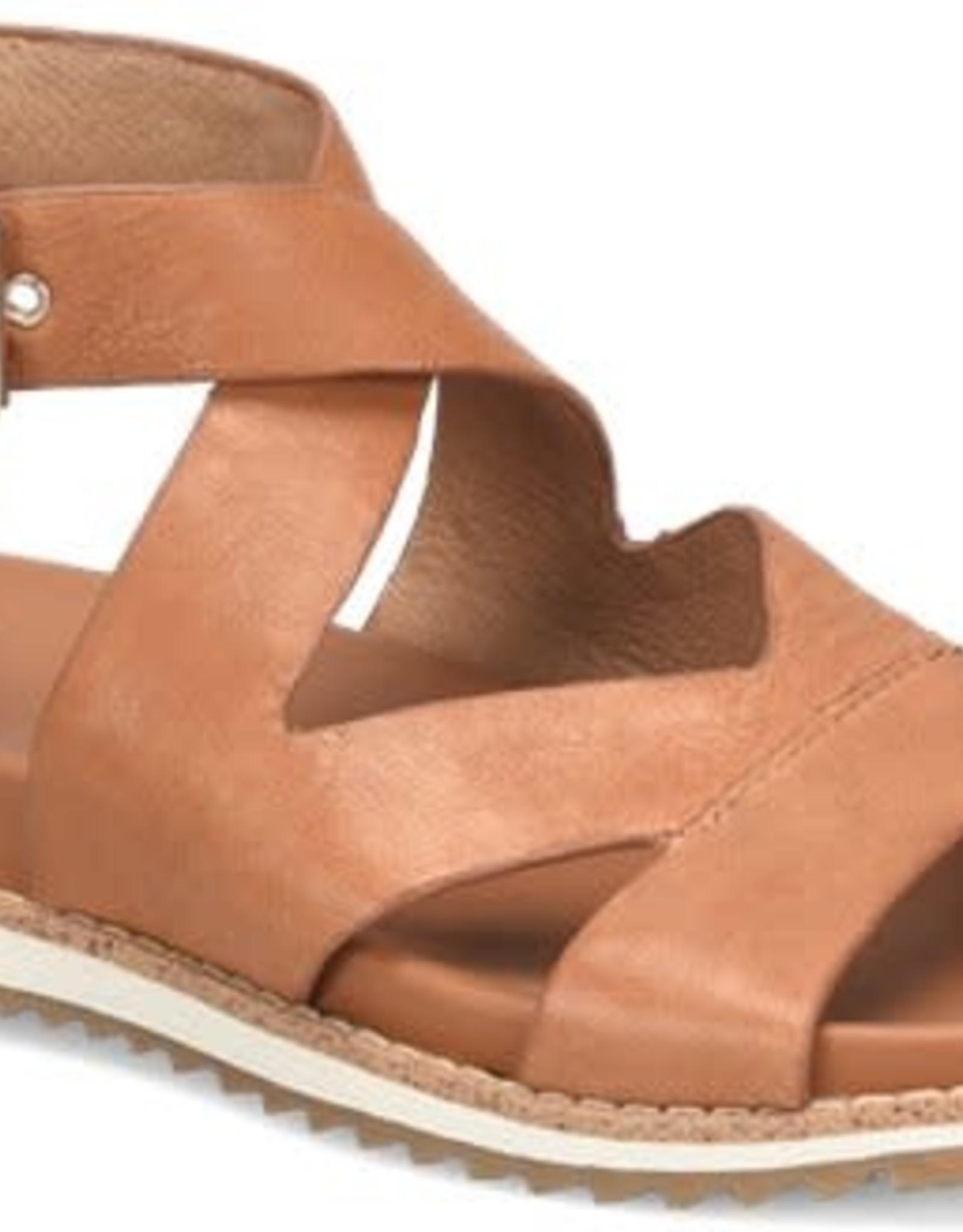 Sofft Brown Leather Strappy Sandal w/Side Buckle