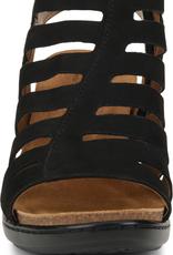 Comfortiva Black Suede Strappy Heel