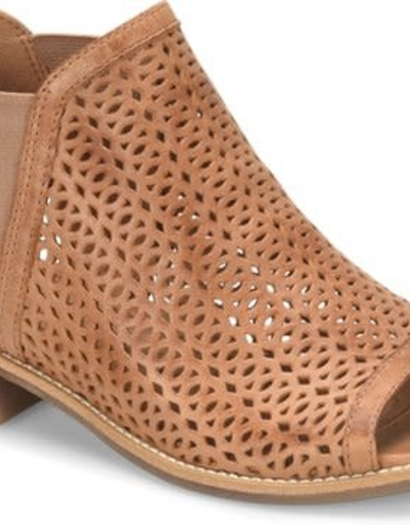 Sofft Brown Leather Lasercut Sandal