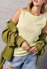 - Yellow Ribbed Tankw/Roundneck