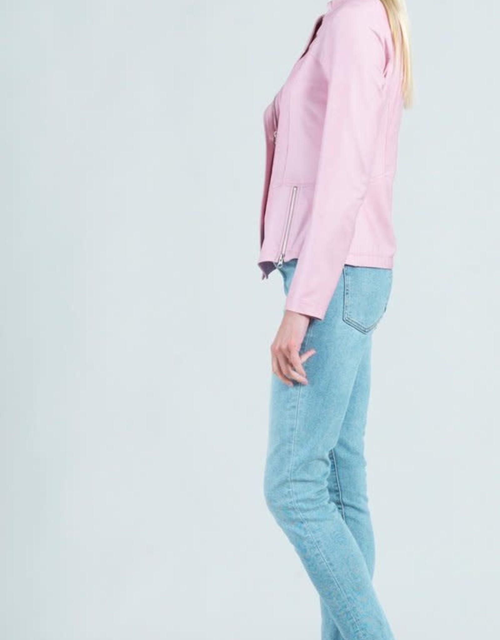 - Pink Liquid Leather Jacket