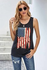 - Black American Flag Tank