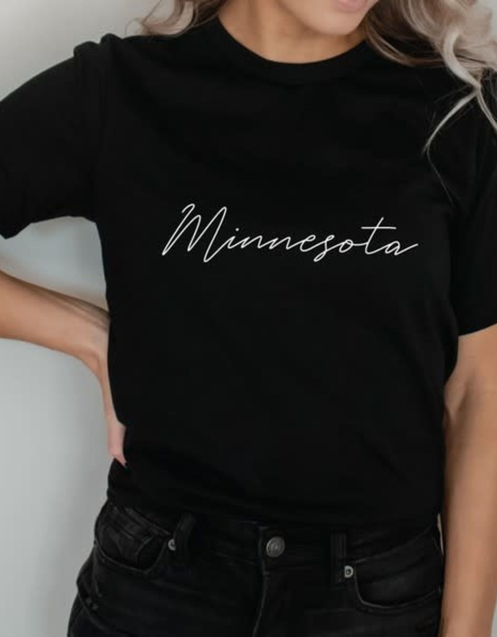 "- Black ""Minnesota"" Graphic Tee"
