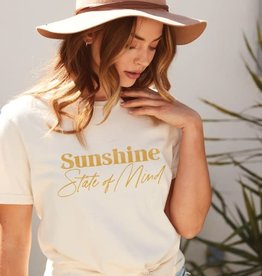 """- Natural """"Sunshine State of Mind"""" Graphic Tee"""