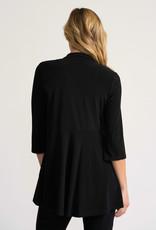 Joseph Ribkoff Black 3/4 Sleeve Cardigan w/Flattering Waist Seam