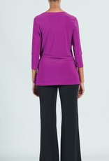 - Violet 3/4 Sleeve Tunic w/Side Tie