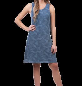 - Blue Geometric Texture A-Line Tank Dress