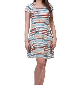 - Multi Color Princess Seam Short Sleeve Dress