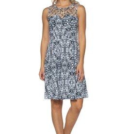 - Black/White Criss Cross Lattice Tank Dress