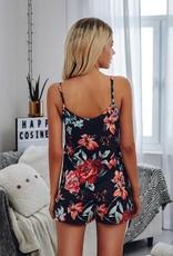 - Black Floral Tank + Shorts Set