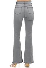 Kancan Grey High Rise Flare Jean