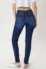 Kancan Dark Wash Mid Rise Super Skinny Jean