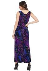 - Purple Print Maxi Tank Dress