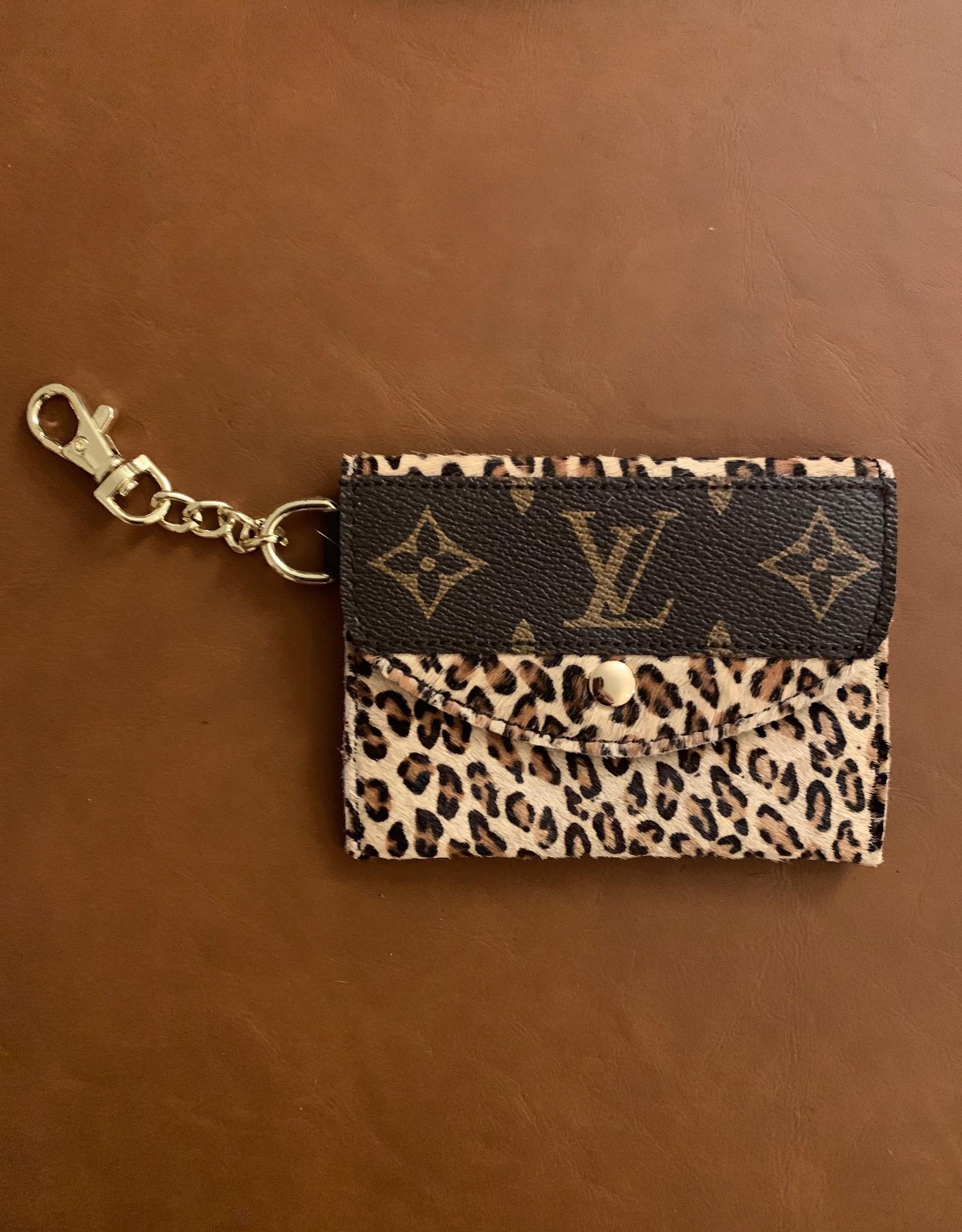- Light Tan Cheetah Upcycled Louis Vuitton Cardholder