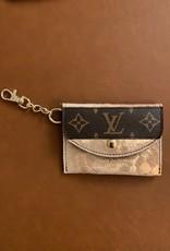 - Metallic Rosegold Upcycled Louis Vuitton Cardholder