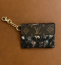 - Metallic Black Upcycled Louis Vuitton Cardholder