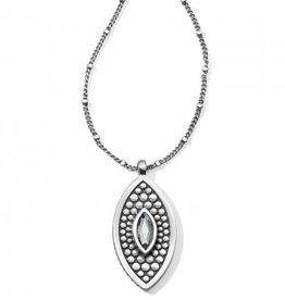 Brighton Pebble Disc Marquise Necklace