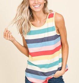- Multi Color Stripe Tank