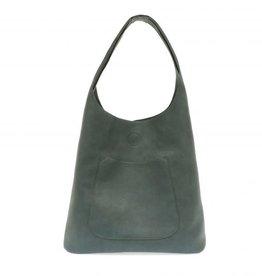 - Dark Chambray Slouchy Hobo Handbag