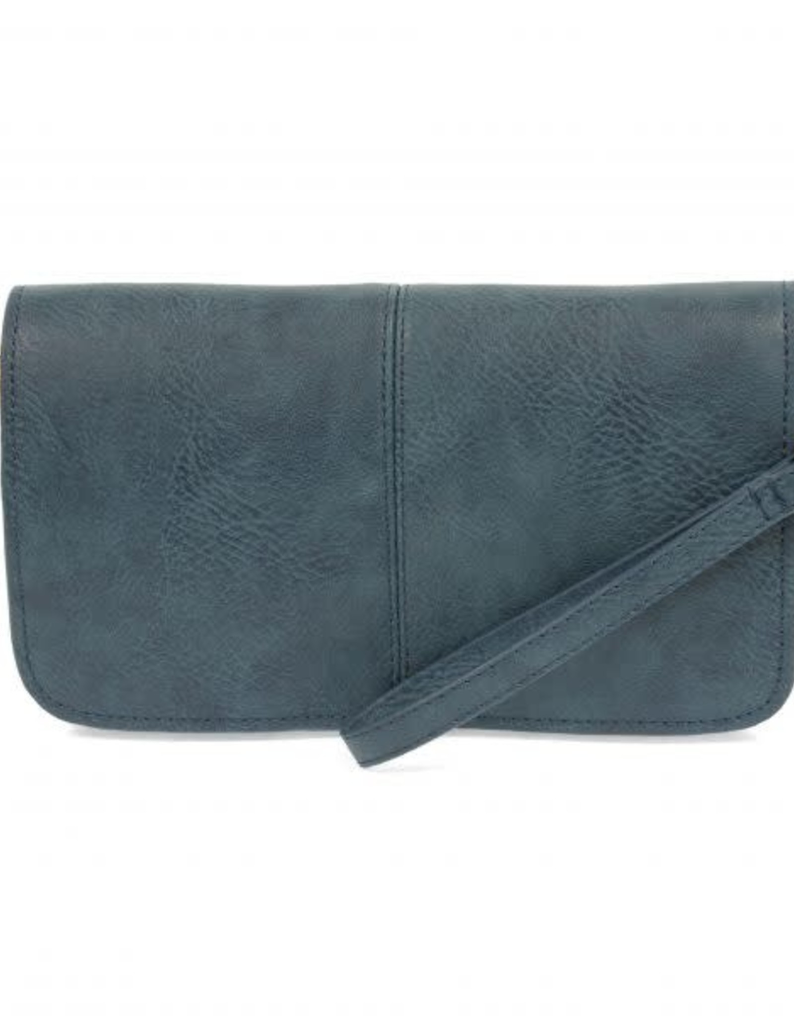 - Dark Chambray Multi Pocket Crossbody Clutch