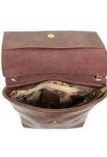 Plum Front Flap Crossbody Bag