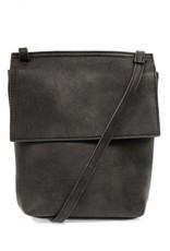 Charcoal Front Flap Crossbody Bag
