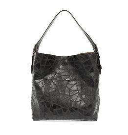 - Black Geo Print Shoulder Bag