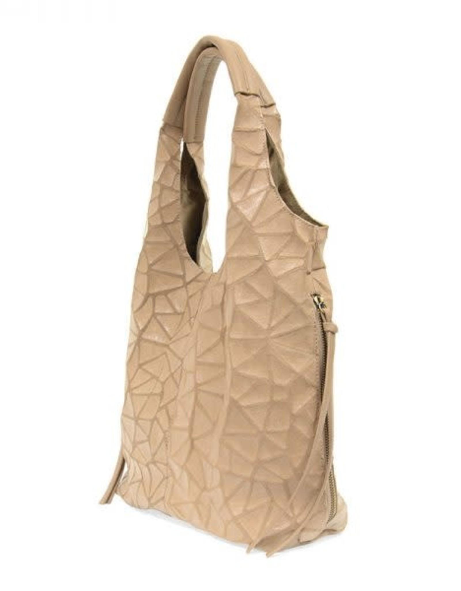 - Camel Geo Print Hobo Shoulder Bag