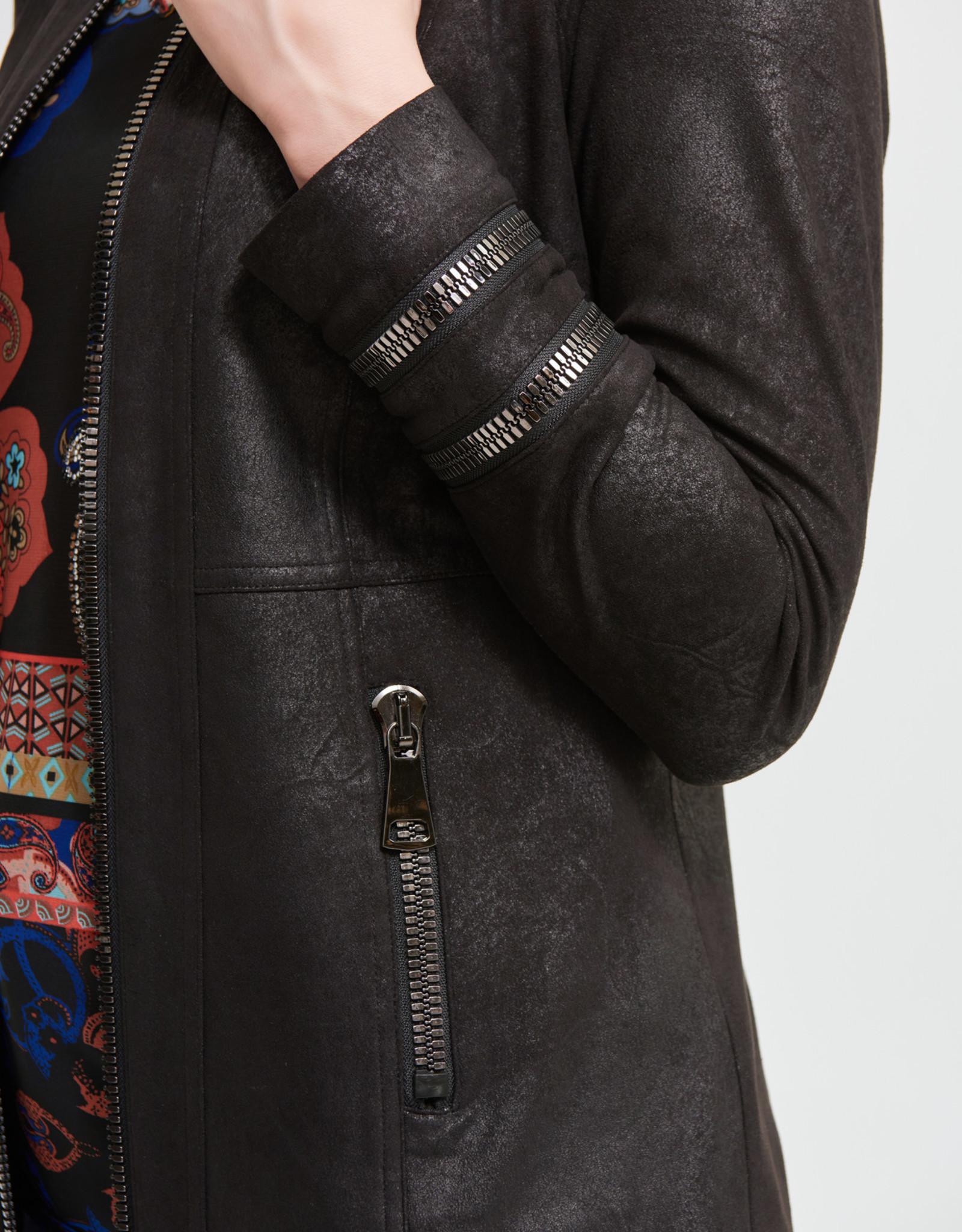 Joseph Ribkoff Black Jacket w/Zipper Details