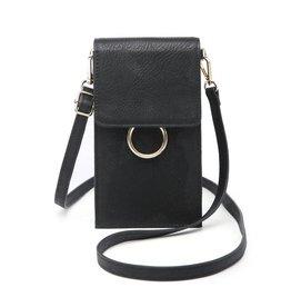 - Black Cell Phone Bag w/Ring