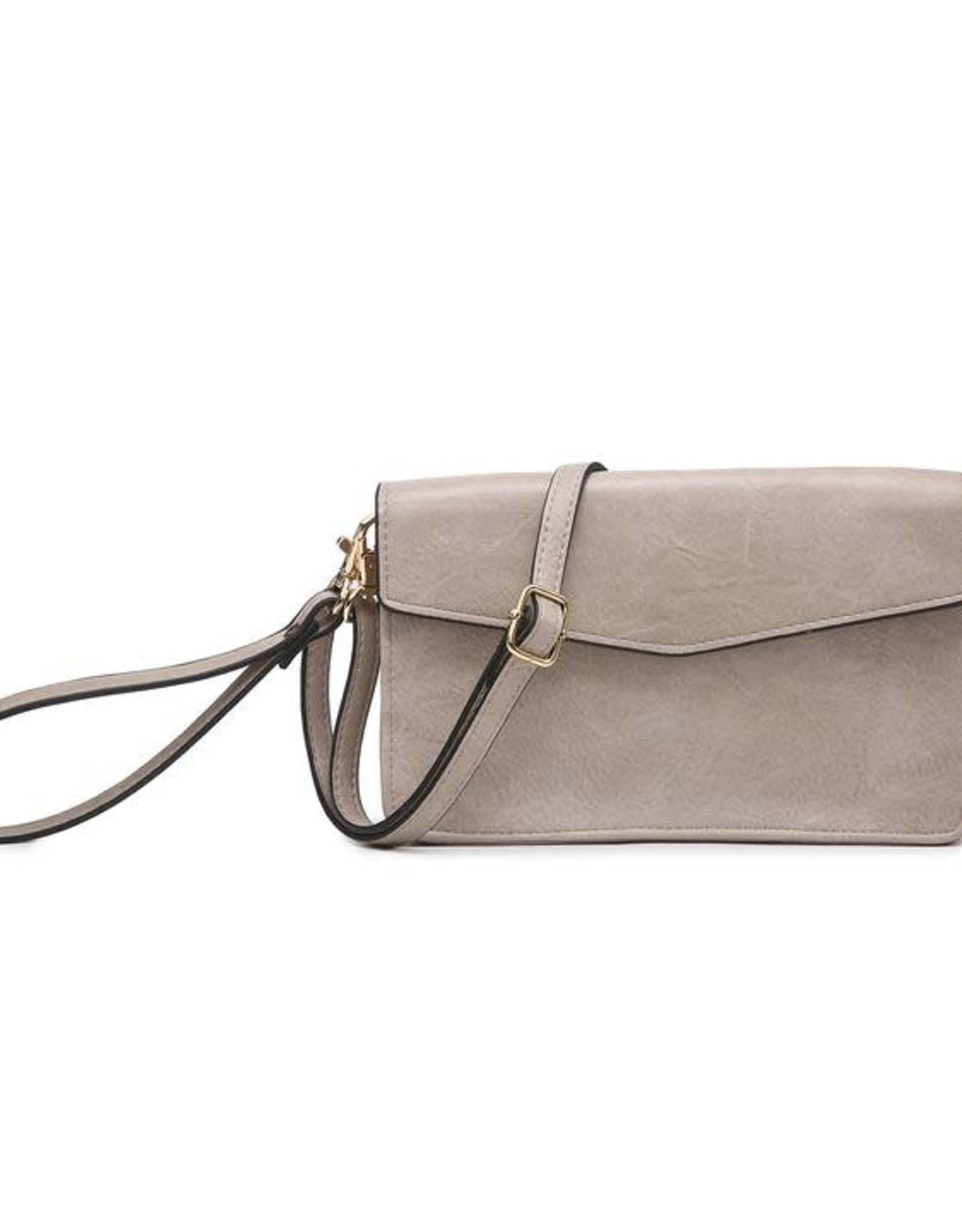 - Warm Grey Cell Phone Bag w/Front Flap