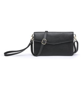 - Black Cell Phone Bag w/Front Flap