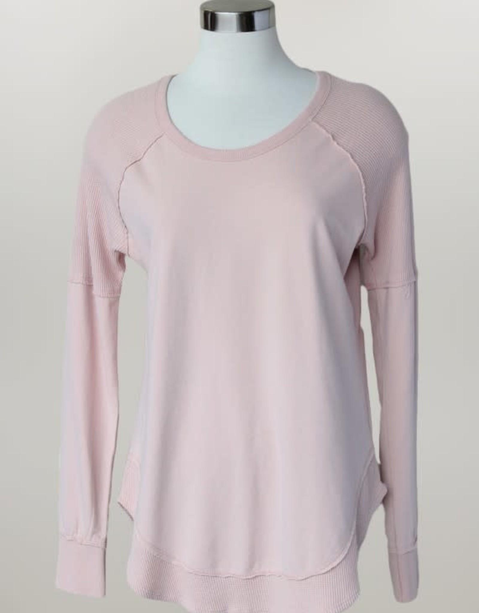 - Blush Long Sleeve Knit Top