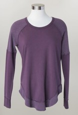 - Plum Long Sleeve Knit Top