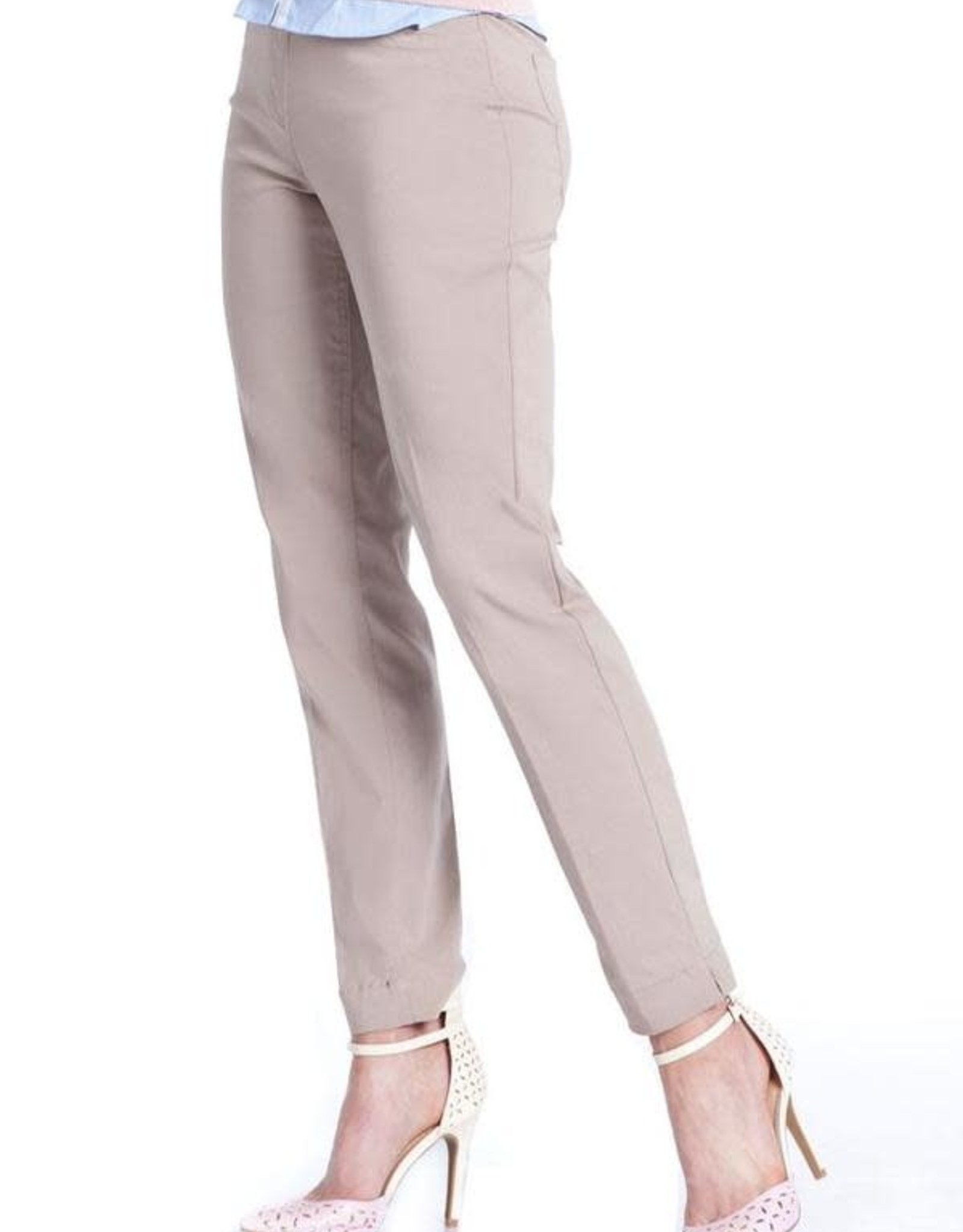 - Tan Pull-On Ankle Pant
