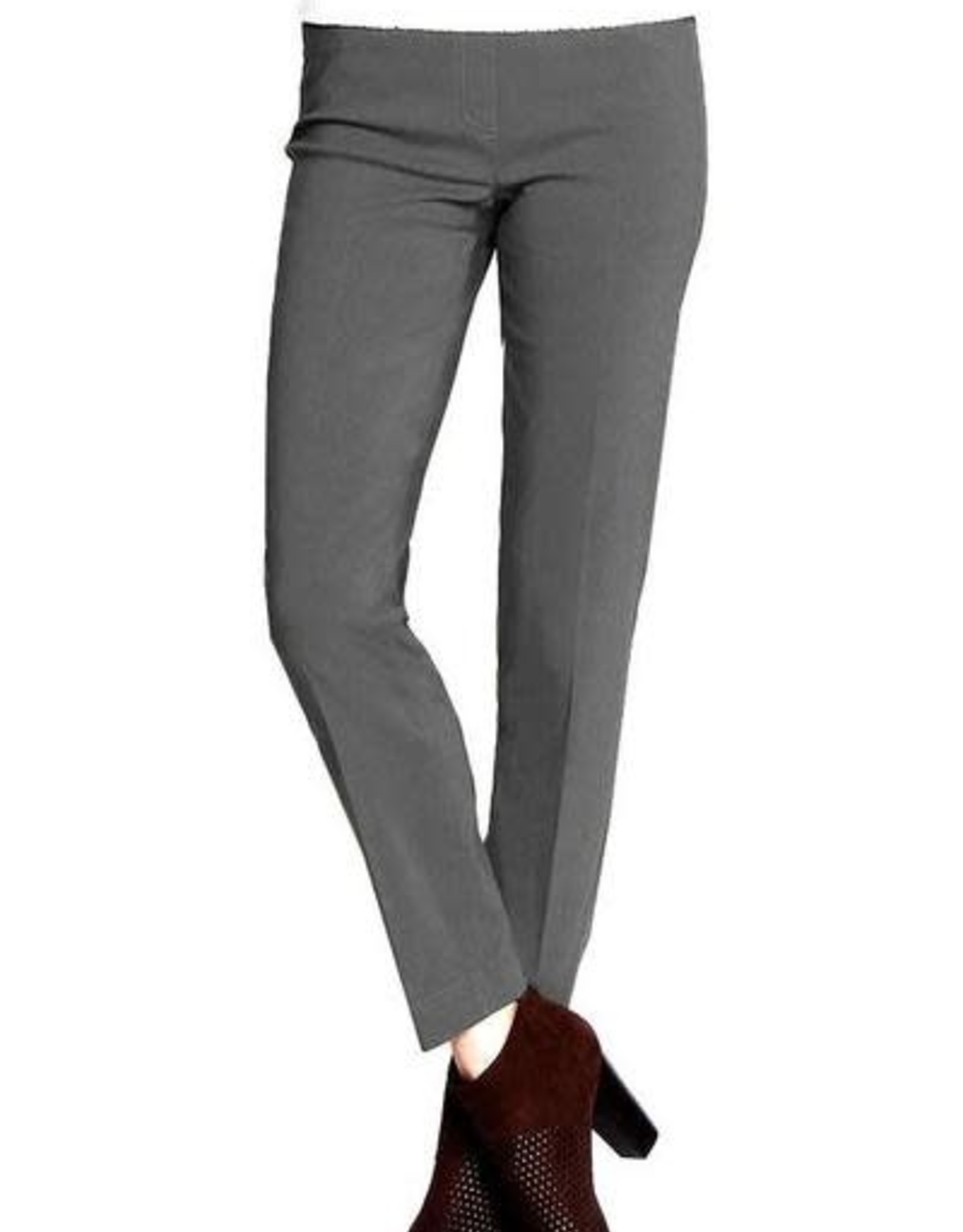 - Charcoal Pull-On Ankle Pant