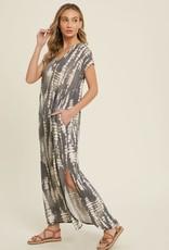 - Charcoal Tie Dye Bamboo Maxi Dress