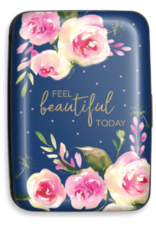 Credit Card Case Navy Roses