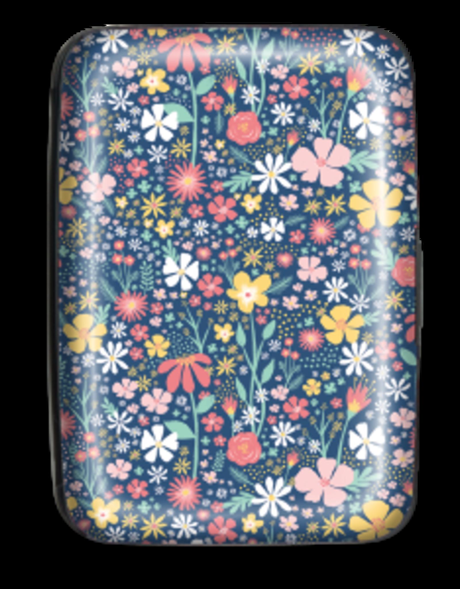 Credit Card Case Navy Wildflower