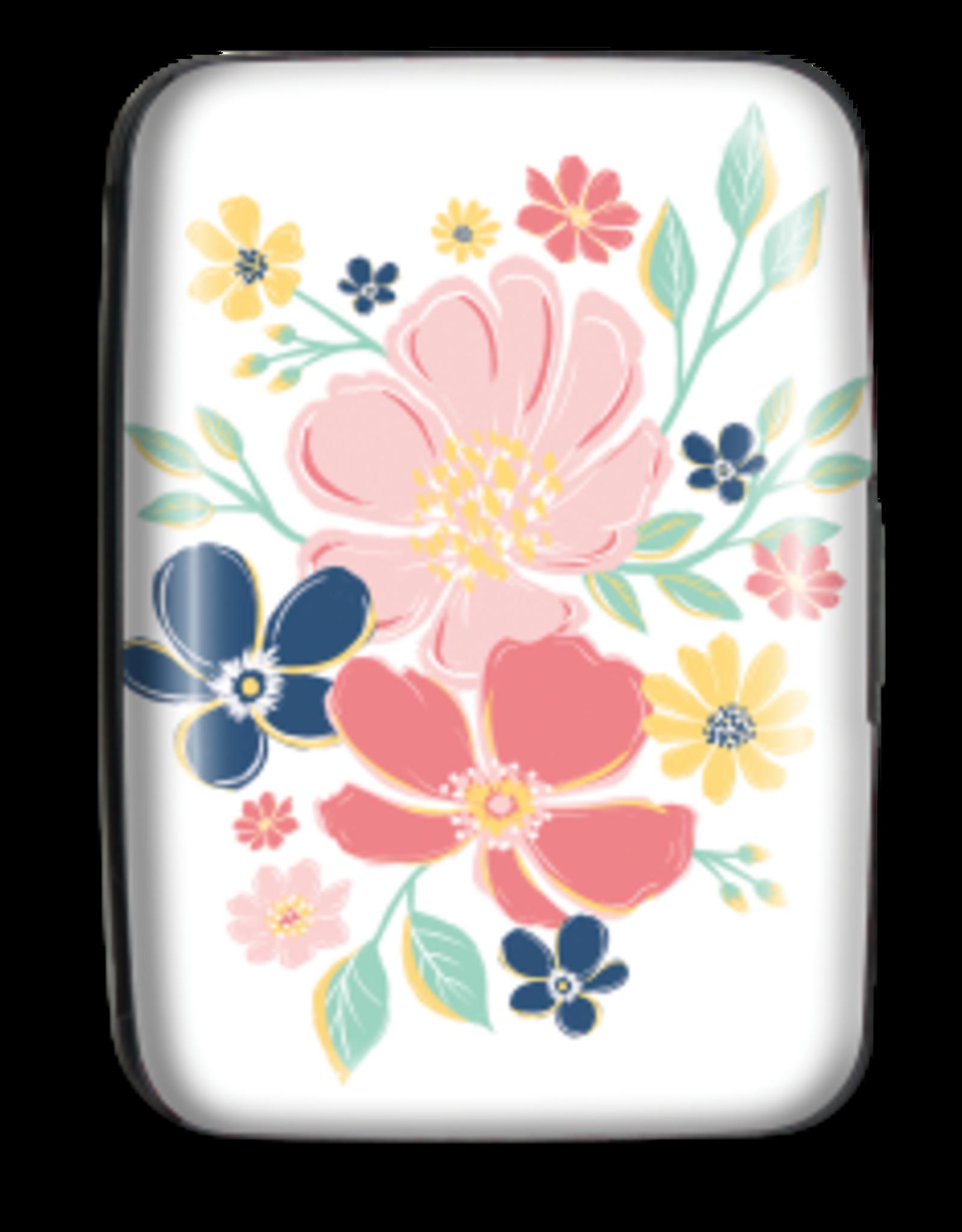Credit Card Case White Wildflower