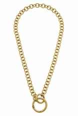 - Gold Ring Chain Necklace