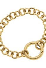 - Gold Ring Chain Bracelet