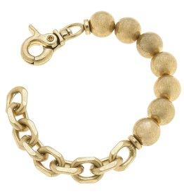 - Gold Ball Bead & Chunky Chain Bracelet