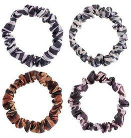 - Leopard Slim Scrunchies