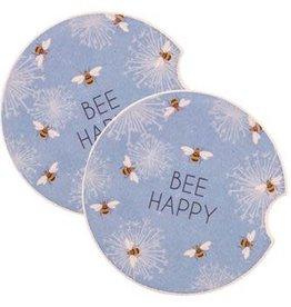 - Be Happy Car Coasters