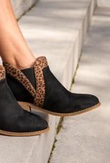- Black/Leopard Short Boot