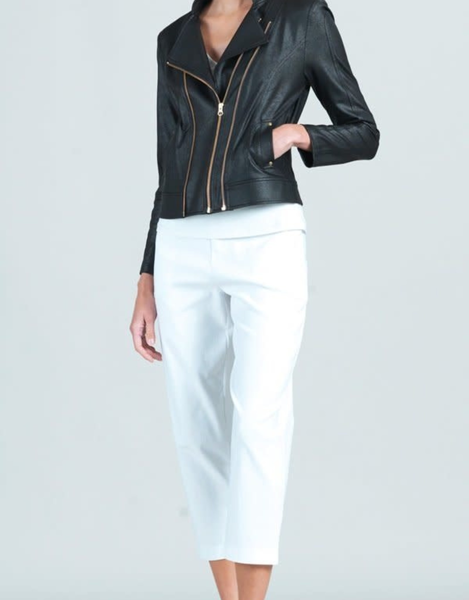 Clara Sunwoo Black Liquid Leather Double Zip w/ Pocket
