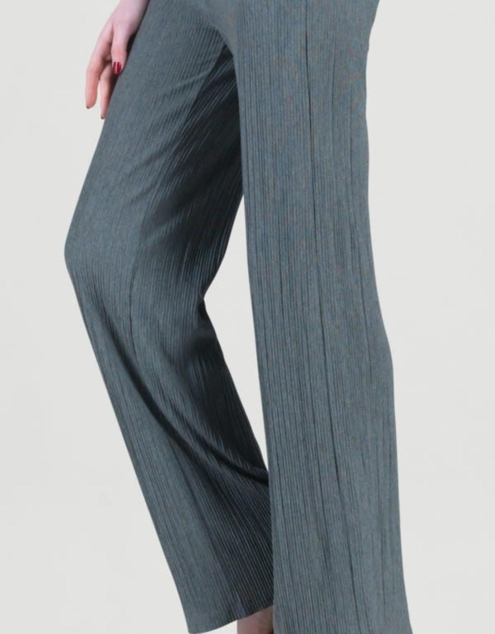Clara Sunwoo Charcoal Pleated Soft Knit Pull-On Pant