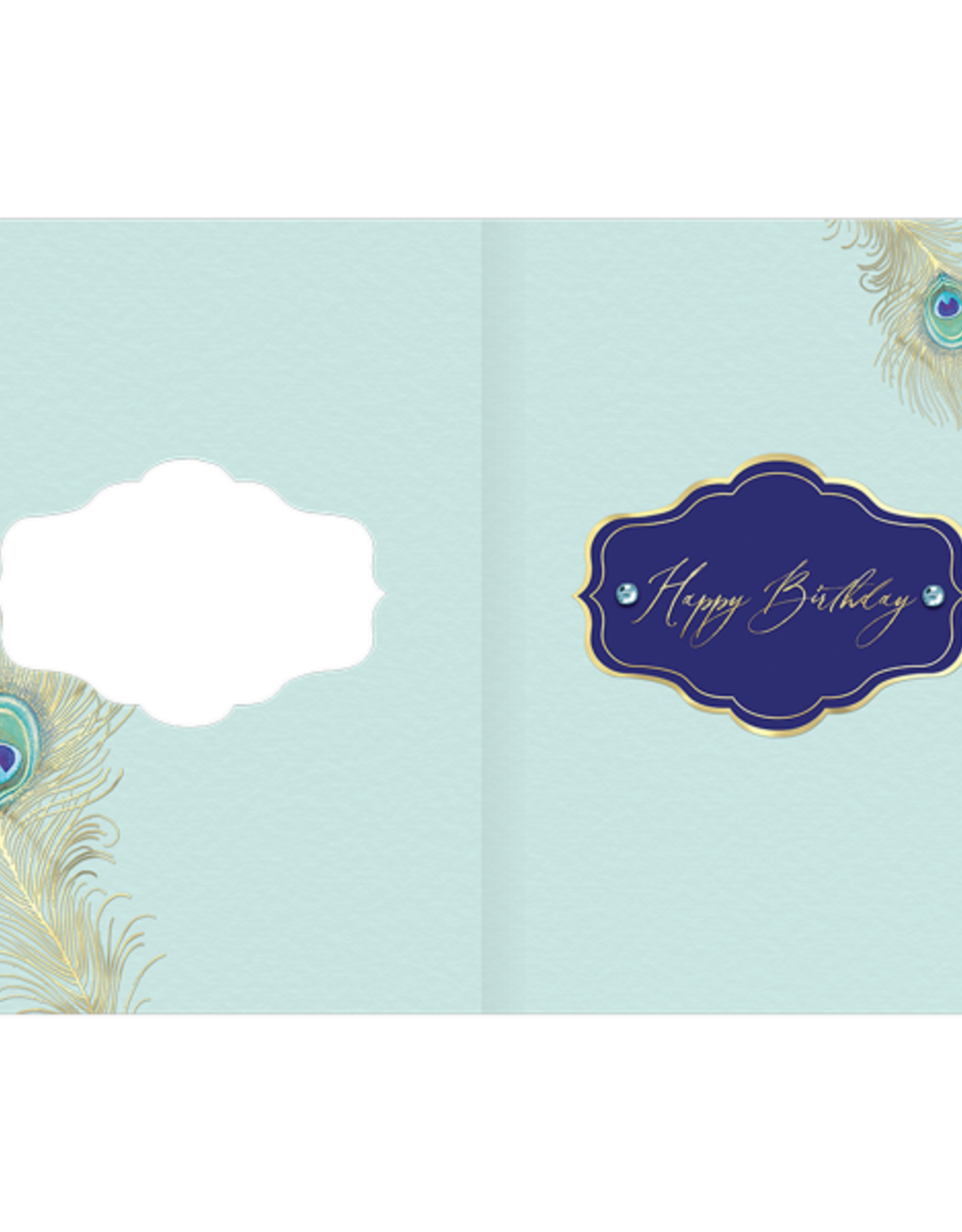- Peacock Feather Birthday Card